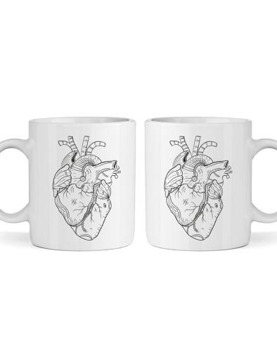 Páros bögre (sima) - szívek
