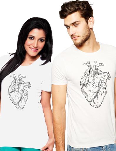 Páros póló - szívek