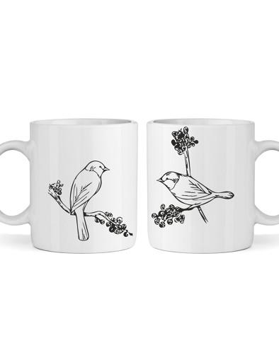 Páros bögre (sima) - madarak