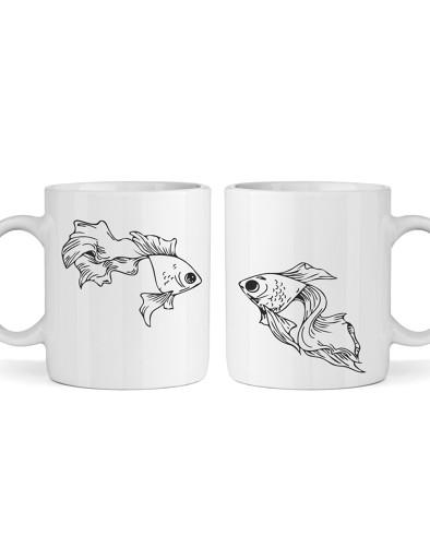 Páros bögre (sima) - halak