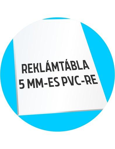 5 mm-es PVC reklámtábla