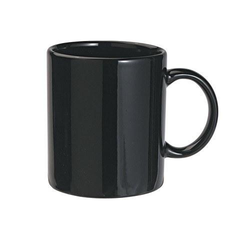 Fekete kerámia bögre